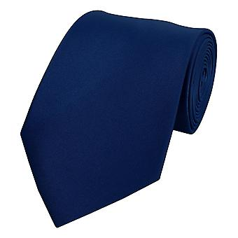 Schlips Krawatte Krawatten Binder 8cm dunkelblau Fabio Farini