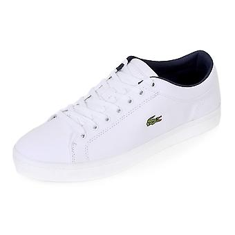 Lacoste Men's Straightset BL 2 Canvas Lace Up Trainer White