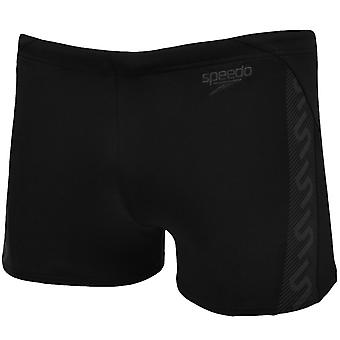 Speedo Boys Junior Monogram Endurance Aquashort Swimming Swim Trunks- Black - 28