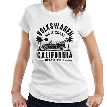 Official Volkswagen West Coast California Black Text Women's T-Shirt