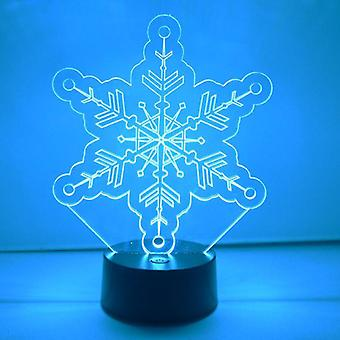Winter Snowflake Colour Changing LED Acrylic Light - Crystal Circles