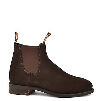 R.M. Williams Men's Suede Comfort Craftsman Chocolate Chelsea Boot