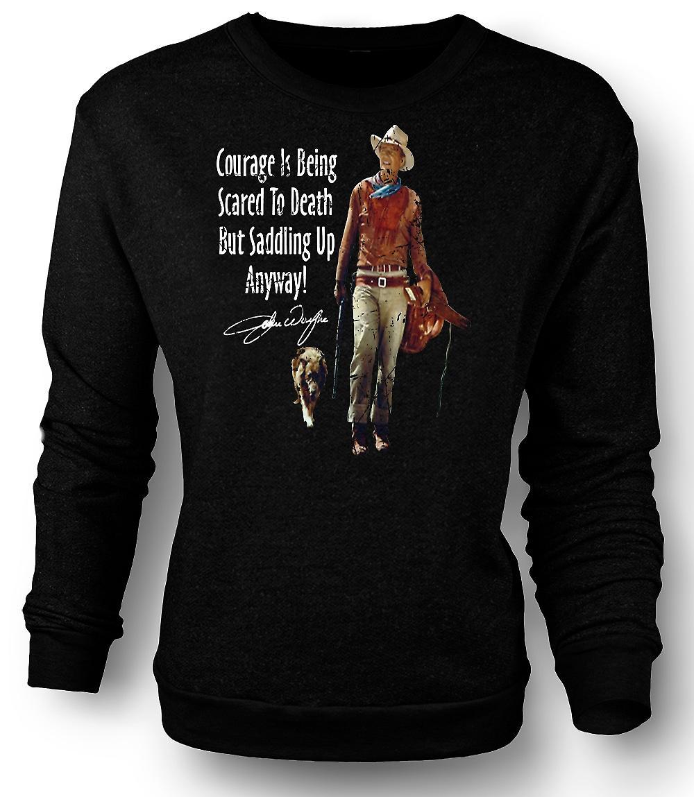 Mens Sweatshirt John Wayne Courage - Cowboy Western