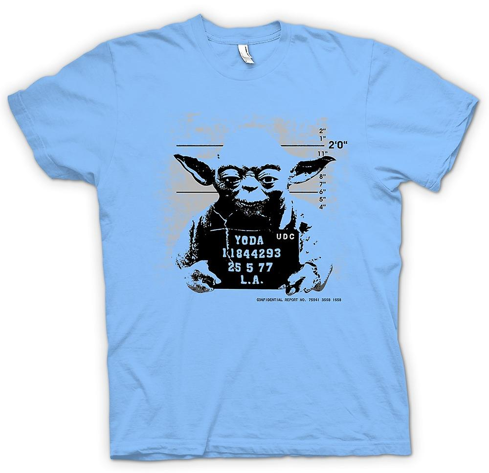 Mens T-shirt-Yoda Mug Shot - Star Wars - Funny