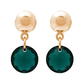 Gemshine damer örhängen tourmaline grön gjort med SWAROVSKI ELEMENTS. 925 silver, högkvalitativ guldpläterad eller rose - hållbar, kvalitet smycken tillverkade i Spanien