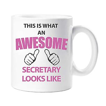 This Is What An Awesome Secretary  Looks Like Mug