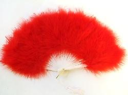 Fans Feathered Fan In Red. Beautiful For That Night Out.(1)