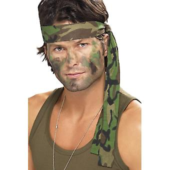 Esercito archetto, Camouflage, 150 x 4 cm Fancy Dress Accessory