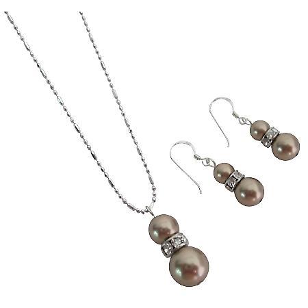 Match Jewelry w/ Your Mocha Dress Bronze Pearls Rhinestones Rings