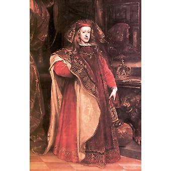 Charles II As Grandmaster,Miranda, Juan Carreno de ,60x40cm