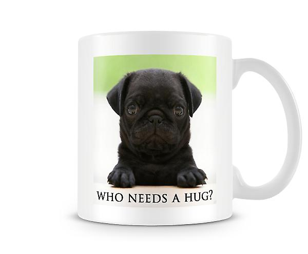 Black Pug Puppy Who Needs A Hug? Mug