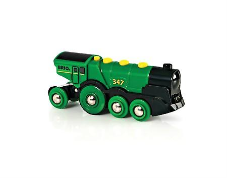 BRIO Powered Big Green Action Locomotive 33593