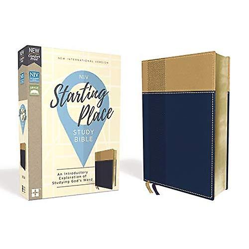 NIV, Starting Place Study Bible, cuirsoft, Navy Tan, Comfort Print  An Introductory Exploration of Studying God& 039;s Word