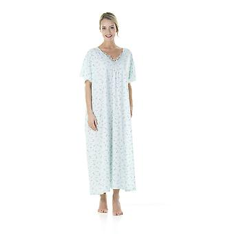 Ladies One Size Kaftans Ditsy floral Lace Edging Full Length