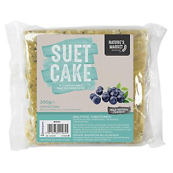 Natures Market Wild Bird Feed Suet Cake - Wild Berry Flavour Food