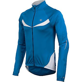 Pearl Izumi True Blue-White Elite Thermal Long Sleeved Cycling Jersey