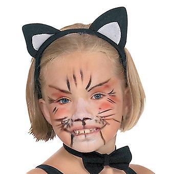 Orejas de gato para niños gato accesorios de diadema oído Halloween Carnaval