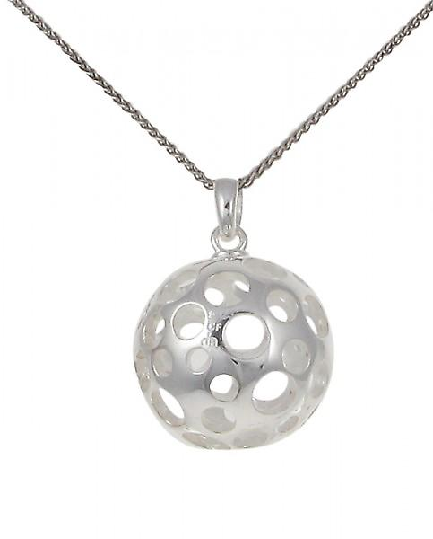 Cavendish French Silver ball pendant with circles without Chain