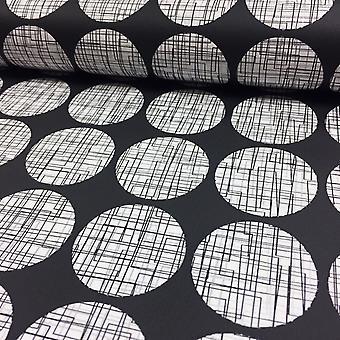 3D effet labyrinthe matrice lignes papier peint métallique luxe moderne cercles Rasch