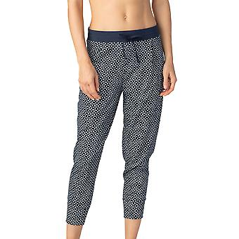 Mey Women 16962-408 Women's Night2Day Isi Night Blue Geometric Print Cotton Cropped Pyjama Pant