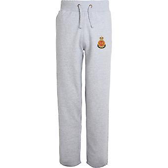 RMAS Royal Military Academy Sandhurst - Licensed British Army Embroidered Open Hem Sweatpants / Jogging Bottoms