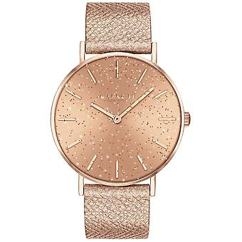 Coach | Womens | Perry | Metallic Strap | RoseGold Glitter Dial | 14503322 Watch