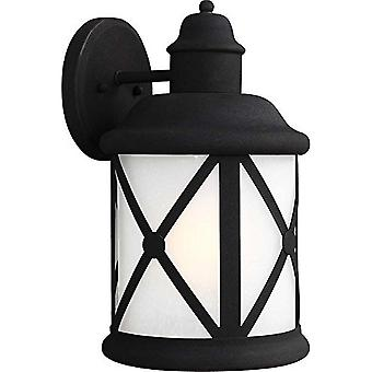 Sea Gull Lighting Lakeview Collection 1-Light Outdoor Wall Lantern Black