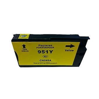 HP 951XL CN048AA gul kompatibel kassett med chip