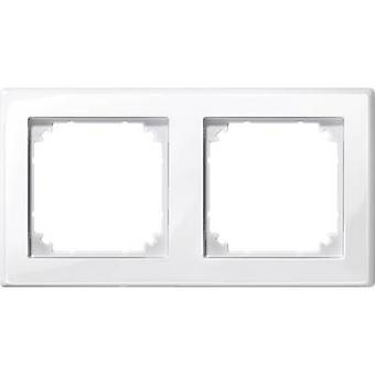 Merten 2x Frame M-Smart Polar white glossy 478219
