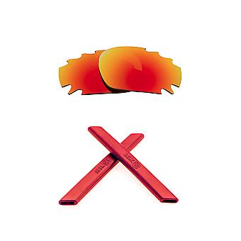 Lenses Kit Compatible with OAKLEY Vented Racing Jacket Polarized Red & Red