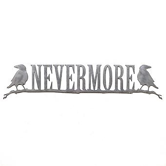 Nevermore - metal cut sign 30x7in