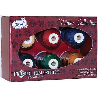 Thimbleberries Cotton Thread Collections 500 Yards 6 Pkg Winter Ggq 1005