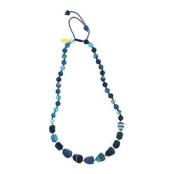 Lola Rose Ellare Necklace Blue Stripe Agate