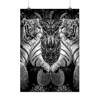 Matte or Glossy Poster with Tiger Wild Beast Animal Jungle Cat | Wellcoda | *q104