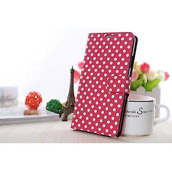 Cover cell phone case (flip cross) for mobile Samsung Galaxy S7560 / S7562 / S7580 / S7582 pink