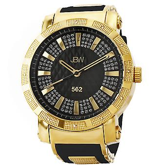 JBW diamond men's stainless steel watch 562 - gold