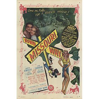 Abajo manera de Missouri Movie Poster (11 x 17)