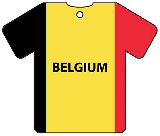 Personalised Belgium Flag Jersey Car Air Freshener