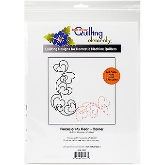 Quilting Creations Printed Tear Away Quilting Paper 4/Pkg-Pieces Of My Heart-Corner UTA1023