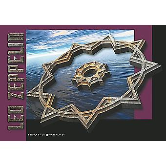 Led Zeppelin Star large fabric poster / flag 1100mm x 750mm (hr)