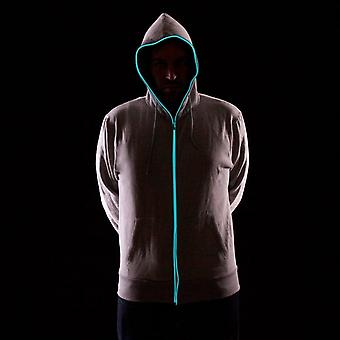 Boutique Camping Light Up Hoodies - Grey With Blue Neon