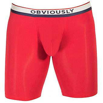 Obviously PrimeMan AnatoMAX Boxer Brief 9inch Leg - Red
