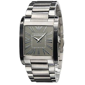 Emporio Armani AR2010 Silver Stainless Steel Strap Grey Dial Watch