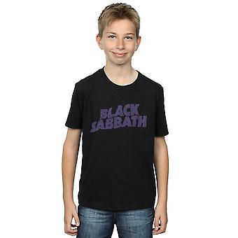 Black Sabbath Boys Distressed Logo T-Shirt