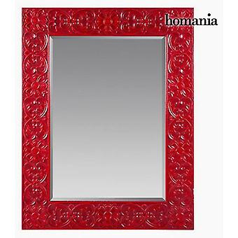 Bigbuy Espejo cuadrado en MDF rojo Colección Be Yourself (Home , Decoration , Mirrors)