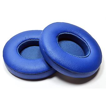 REYTID Replacement Blue Ear Pad Kit for Apple Beats By Dr. Dre Solo2 & Solo2 Wireless Cushion - Solo 2.0 - 1 Pair Earpads