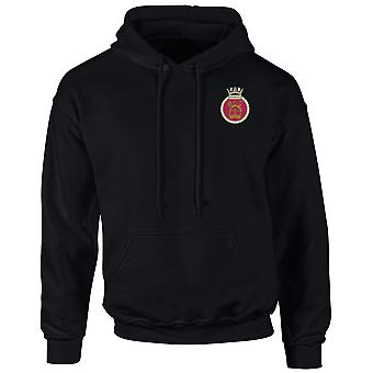 HMS Sovereign Embroidered Logo - Official Royal Navy Hoodie