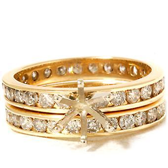 Ajuste de ct 3 eternidad de oro anillo de boda