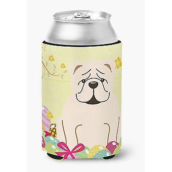 Easter Eggs English Bulldog White Can or Bottle Hugger
