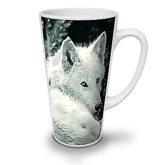 White Wolf Look NEW White Tea Coffee Ceramic Latte Mug 17 oz | Wellcoda